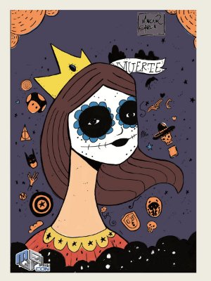 Kit de 05 Prints Colecionáveis Exclusivos da Megacon 2018 - Dia dos Mortos
