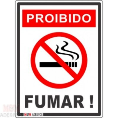Placa Proibido Fuma 15x20x0,80 Mm