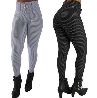 Calça Legging CottonJeans Risca De Giz