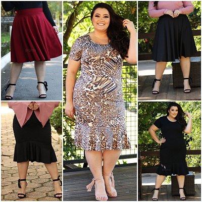 Saias e Vestidos Tamanhos grandes (Kit com 5)