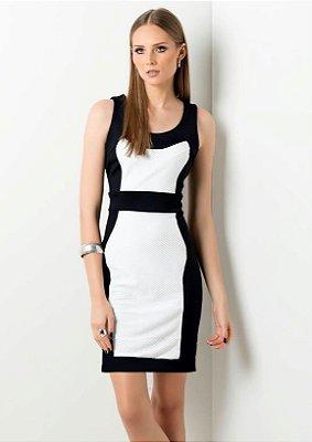 Vestido Longuente Preto E Branco Clássico