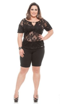 Bermuda Shorts  de cottonlycra plus size  acima 46