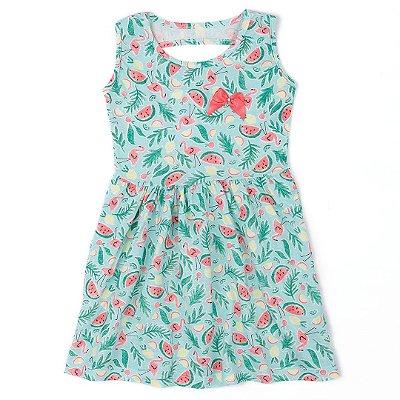 9cc7650c4 Vestido Infantil Menina Melancia Verde - Clubinho Kids