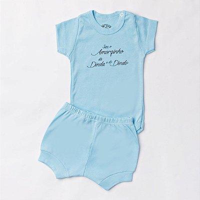 45d38c8eba Conjunto Bebê Menina Dinda e Dindo Rosa -Betyju