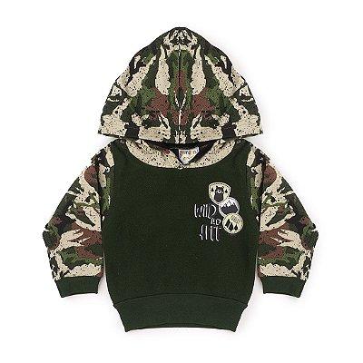 Blusão Bebê Forest Verde Militar - Fantoni