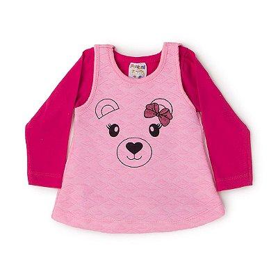 3f5b95c373 Conjunto Bebê Body e Vestido Rosê - Fantoni
