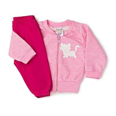 8ed9b19fac Conjunto Bebê Gatinha Rosê Pink - Fantoni