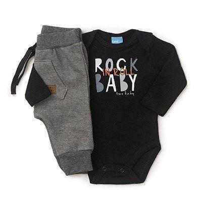 Conjunto Bebê Menino Body e Calça Saruel - TMX