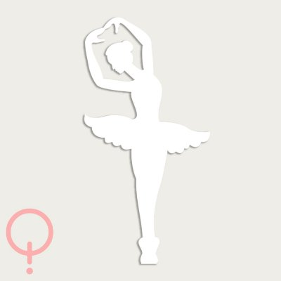 Bailarina Decorativa Recortada a Laser
