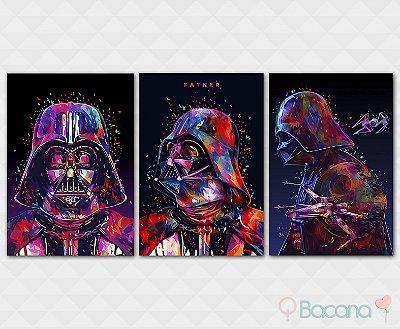 Kit Placa Decorativa - Darth Vader Star Wars