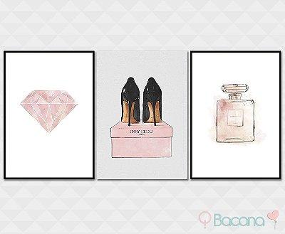 Kit Placa Decorativa - Diamante Saltos Perfume Channel