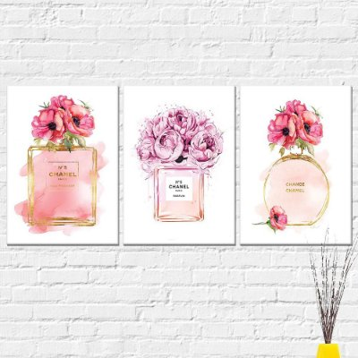Kit Placa Decorativa - Perfume Channel