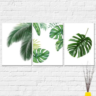 Kit Placa Decorativa - Folhas