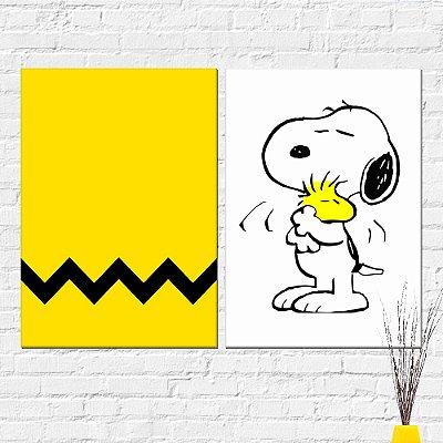 Kit Placa Decorativa - Snoopy