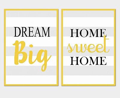 Kit Placa Decorativa - Frases