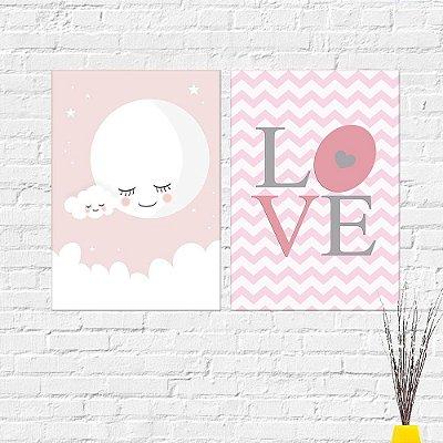 Kit Plaquinha Infantil - Love Lua