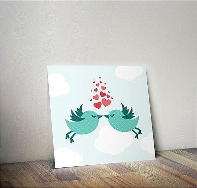Plaquinha Decorativa - Passarinho Love