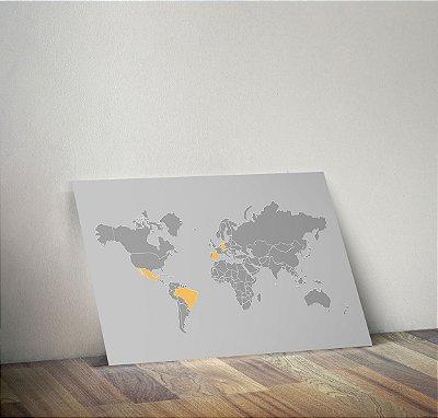 Plaquinha Decorativa - Mapa