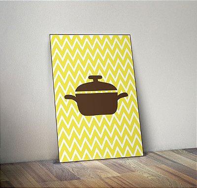 Plaquinha Decorativa - Cozinha Panela