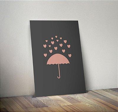 Plaquinha Decorativa - Chuva Coração