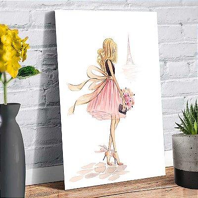 Plaquinha Decorativa - Menina Paris