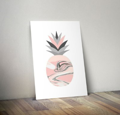Plaquinha Decorativa - Fruta Abacaxi