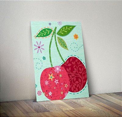 Plaquinha Decorativa - Fruta Cereja