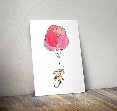 Plaquinha Decorativa - Gato Balão