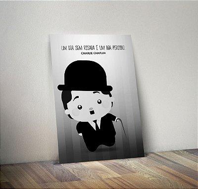 Plaquinha Decorativa - Charles Chaplin Frase