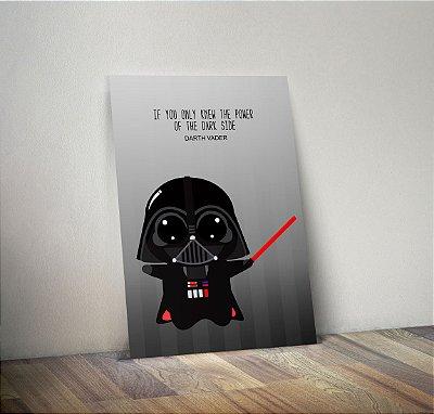 Plaquinha Decorativa - Star Wars Darth Vader Frase