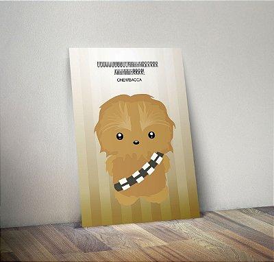Plaquinha Decorativa - Star Wars Chewbacca Frase
