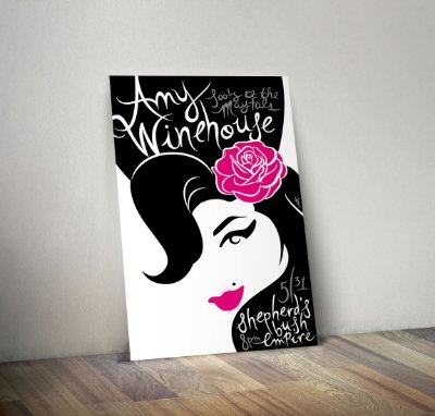 Plaquinha Decorativa - Amy Winehouse