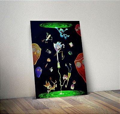Plaquinha Decorativa - Rick and Morty