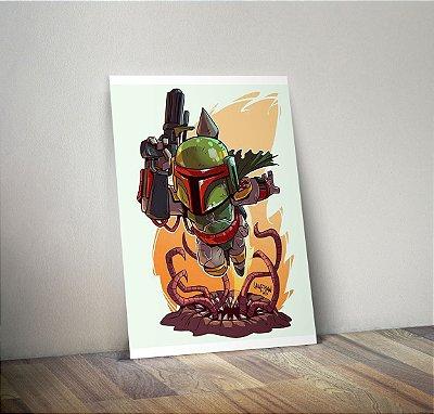 Plaquinha Decorativa - Star Wars Boba Fett