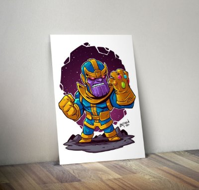 Plaquinha Decorativa - Marvel Thanos
