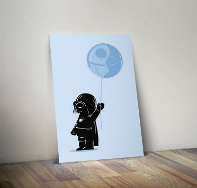 Plaquinha Decorativa - Star Wars Darth Vader