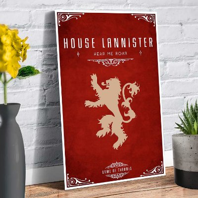 Plaquinha Decorativa - GOT Lannister