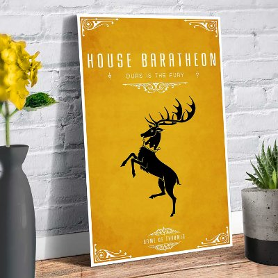 Plaquinha Decorativa - GOT Baratheon