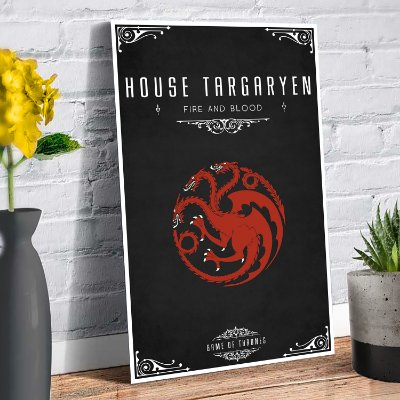 Plaquinha Decorativa - GOT Targaryen