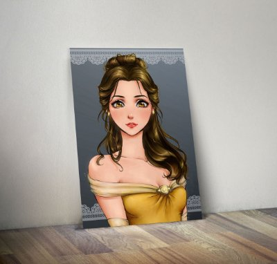 Plaquinha Decorativa - Princesas Bela