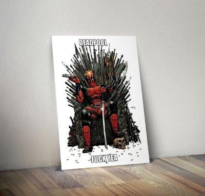 Plaquinha Decorativa - Marvel Deadpool