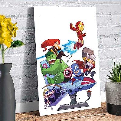 Plaquinha Decorativa - Marvel Heróis