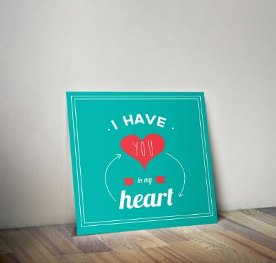 Plaquinha Decorativa - Frase Amor