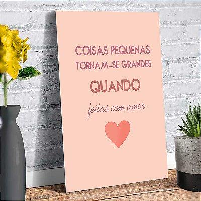 Plaquinha Decorativa - Frase Love