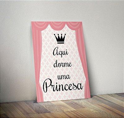 Plaquinha Decorativa - Dorme Princesa