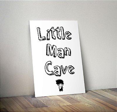 Plaquinha Infantil - Frase Little Man