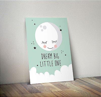 Plaquinha Infantil - Lua Frase Dream Big