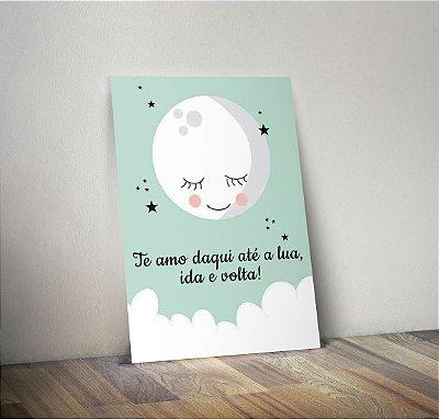 Plaquinha Infantil - Lua Frase Daqui Até a Lua