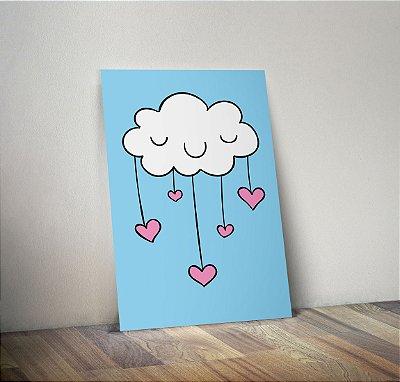 Plaquinha Infantil - Nuvem Coração