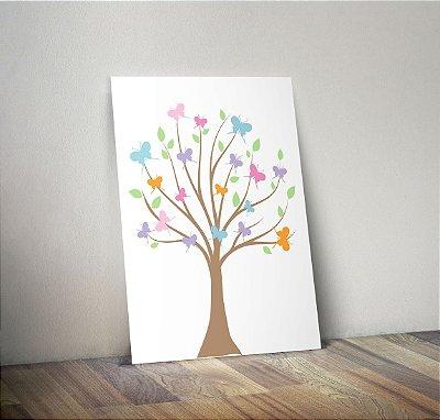 Plaquinha Infantil - Árvore Borboletas